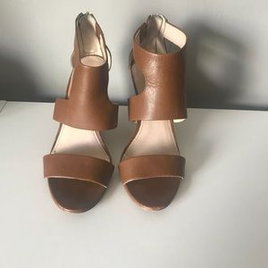 Louise et cie leather wedge sandals